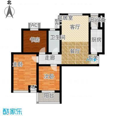 芊域阳光96.99㎡芊域阳光户型图限价商品房G户型3室2厅1卫1厨户型3室2厅1卫1厨