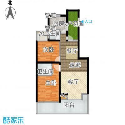 亿龙金河湾83.24㎡亿龙金河湾户型图C户型2室2厅2卫1厨户型2室2厅2卫1厨