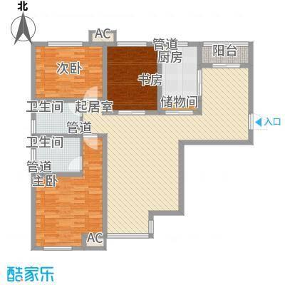 金辉天鹅湾106.00㎡金辉天鹅湾户型图朗庭户型图3室2厅2卫1厨户型3室2厅2卫1厨