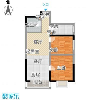 金海湾86.92㎡金海湾户型图户型图2室2厅1卫1厨户型2室2厅1卫1厨