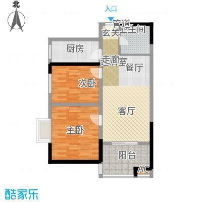 金海湾83.25㎡金海湾户型图A户型2室2厅1卫1厨户型2室2厅1卫1厨