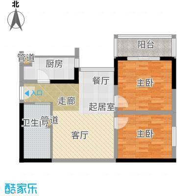 金海湾88.22㎡金海湾户型图户型图2室2厅1卫1厨户型2室2厅1卫1厨