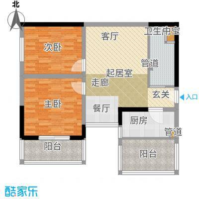 金海湾87.26㎡金海湾户型图户型图2室2厅1卫1厨户型2室2厅1卫1厨