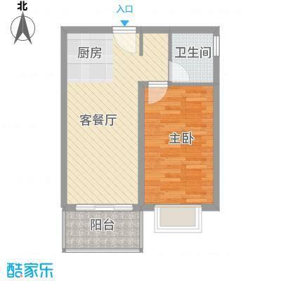 龙溪雅居57.00㎡龙溪雅居户型图E1户型1室2厅1卫户型1室2厅1卫