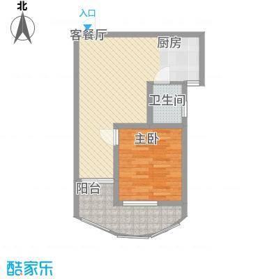九龙湾59.11㎡九龙湾户型图1号楼-B户型1室1厅1卫1厨户型1室1厅1卫1厨