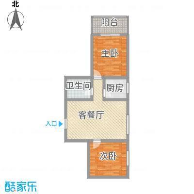 东方绿洲88.73㎡东方绿洲户型图G户型2室2厅1卫1厨户型2室2厅1卫1厨