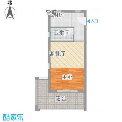 万泉明珠62.26㎡万泉明珠户型图2、5#楼D1户型1室1厅户型1室1厅