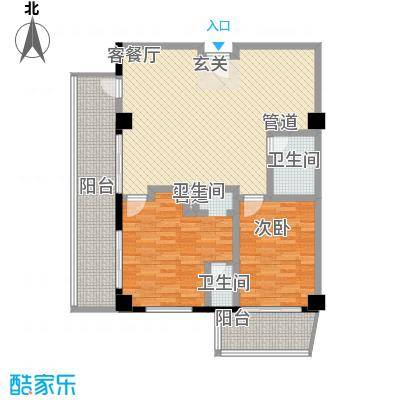 三亚克拉码头141.92㎡三亚克拉码头户型图01户型2室1厅户型2室1厅