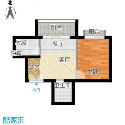 南山花园户型图福慧阁A2户型 1室1厅1卫