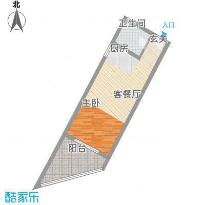中州国际酒店59.89㎡中州国际酒店户型图A2户型1室2厅1卫1厨户型1室2厅1卫1厨