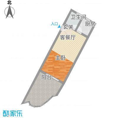 中州国际酒店63.85㎡中州国际酒店户型图A3户型1室2厅1卫1厨户型1室2厅1卫1厨