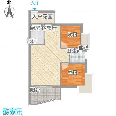 顺泽玲珑湾A户型2室2厅1卫