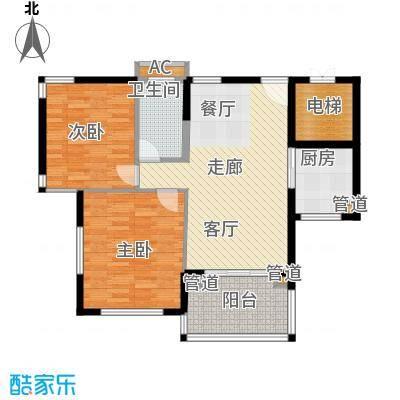石梅山庄97.82㎡石梅山庄户型图洋房B-3户型2室1厅1卫1厨户型2室1厅1卫1厨
