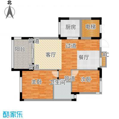 石梅山庄94.30㎡石梅山庄户型图B1户型2室2厅1卫1厨户型2室2厅1卫1厨
