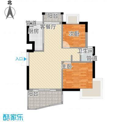 顺泽玲珑湾J户型2室2厅1卫