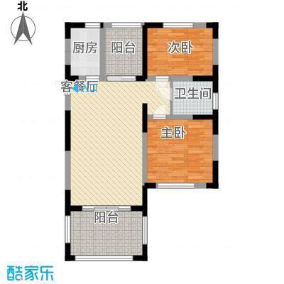 伊比亚河畔85.02㎡伊比亚河畔户型图7#8#楼1号房户型图2室1厅1卫1厨户型2室1厅1卫1厨