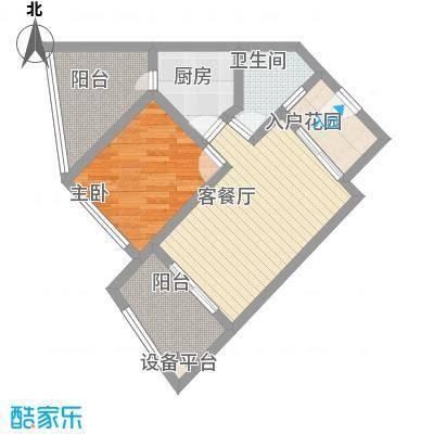 海南保亭奥兰花园63.94㎡海南保亭奥兰花园户型图B31室1厅1卫户型1室1厅1卫
