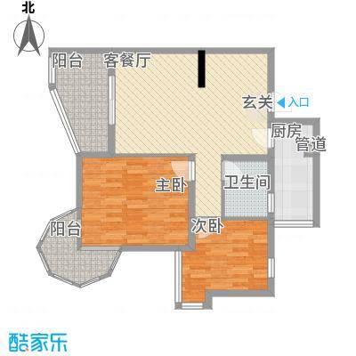 聚仙阁71.80㎡聚仙阁户型图1号楼C1户型2室2厅1卫1厨户型2室2厅1卫1厨
