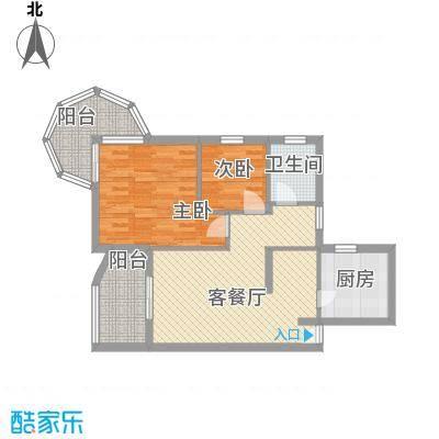 聚仙阁74.71㎡聚仙阁户型图4、5号楼F2户型2室2厅1卫1厨户型2室2厅1卫1厨