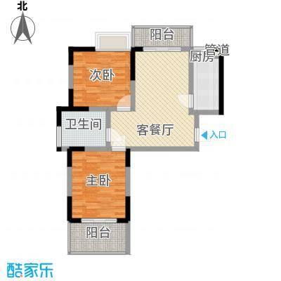 博鳌海威景苑82.60㎡博鳌海威景苑户型图A-2户型图2室1厅1卫1厨户型2室1厅1卫1厨