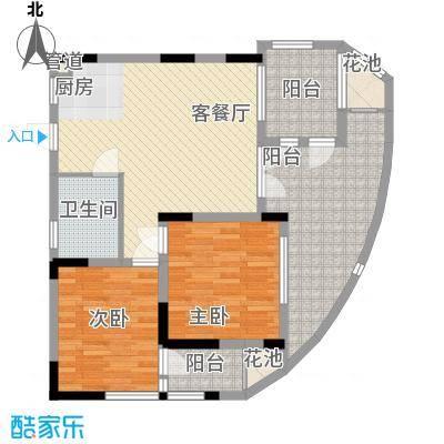 五指山圣河湾88.89㎡圣河湾户型图D户型平面图2013.8.20户型10室