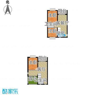 五指山海建・瑞景山庄151.66㎡E复式户型3室2厅2卫1厨