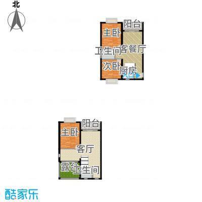 五指山海建・瑞景山庄154.00㎡E复式户型3室2厅2卫1厨