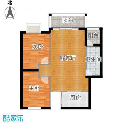 琼海海桂坊85.96㎡E#楼E4、E7户型2室1厅1卫1厨