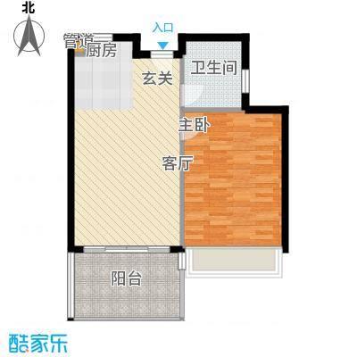 中信博鳌千舟湾中信博鳌千舟湾户型图户型B11室1厅1卫1厨户型1室1厅1卫1厨