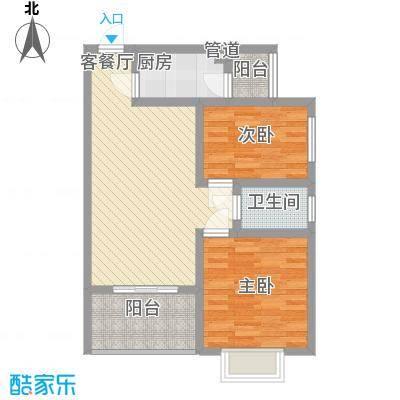 吉粮康城吉粮康城户型图1-B05户型图2室2厅1卫1厨户型2室2厅1卫1厨