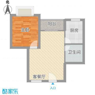 万泉河家园46.47㎡万泉河家园户型图公寓C-3户型1室2厅1卫1厨户型1室2厅1卫1厨