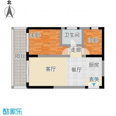 博鳌印象81.01㎡博鳌印象户型图1号楼B1户型1室1厅1卫1厨户型1室1厅1卫1厨
