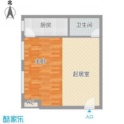 博鳌左岸57.66㎡博鳌左岸户型图温馨阁C1户型图1室1厅1卫1厨户型1室1厅1卫1厨