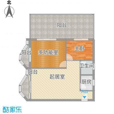 博鳌左岸97.12㎡博鳌左岸户型图听涛居A栋5户型图1室2厅1卫1厨户型1室2厅1卫1厨
