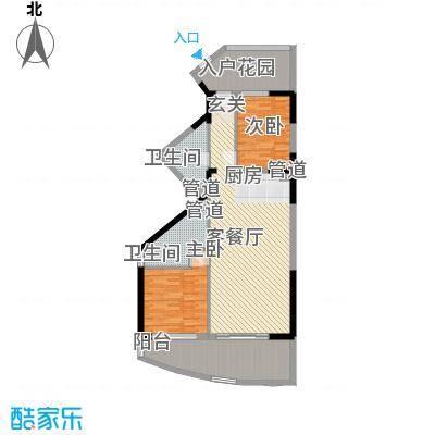 博鳌海御130.00㎡博鳌海御户型图E-04户型2室2厅2卫1厨户型2室2厅2卫1厨