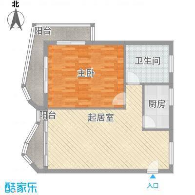 博鳌左岸97.80㎡博鳌左岸户型图听涛居A栋4户型图1室2厅1卫1厨户型1室2厅1卫1厨