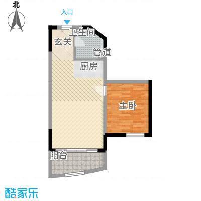 博鳌海御70.00㎡博鳌海御户型图E-03户型1室2厅1卫1厨户型1室2厅1卫1厨