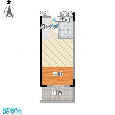博鳌海御63.00㎡博鳌海御户型图A-01户型1室1厅1卫1厨户型1室1厅1卫1厨
