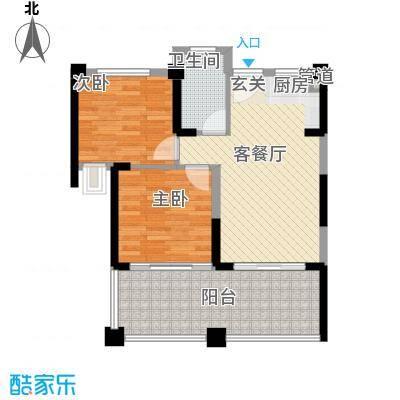 博鳌湾72.00㎡博鳌湾户型图C户型2室2厅1卫1厨户型2室2厅1卫1厨