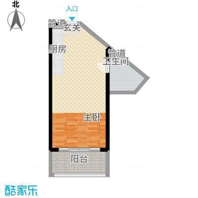 博鳌海御68.00㎡博鳌海御户型图A-03户型1室1厅1卫1厨户型1室1厅1卫1厨