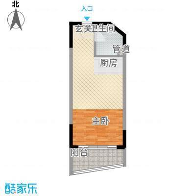 博鳌海御53.00㎡博鳌海御户型图E-05户型1室1厅1卫1厨户型1室1厅1卫1厨