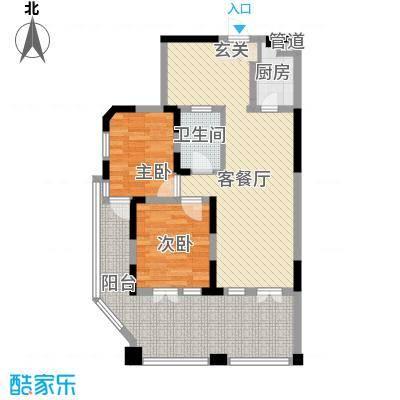 翠屏阅棠100.99㎡翠屏阅棠户型图公寓G2户型2室2厅1卫1厨户型2室2厅1卫1厨
