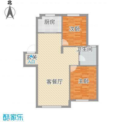 五都公寓2室户型2室1厅1卫1厨