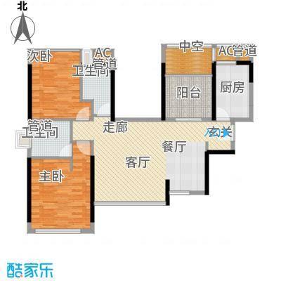 万科金域华府88.00㎡万科金域华府户型图1期HA户型2室2厅户型2室2厅