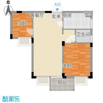皓月花园72.59㎡深圳皓月花园一期户型图1户型10室