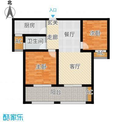 望湖御景86.00㎡望湖御景户型图B户型2室2厅1卫户型2室2厅1卫