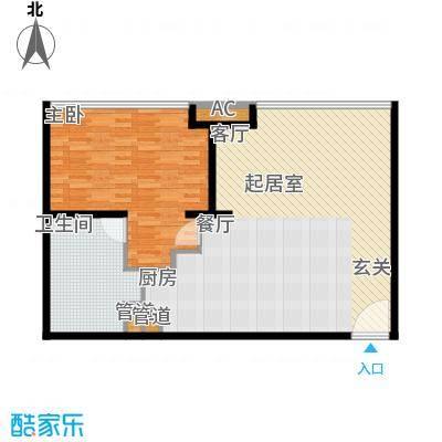 新世界名泷107.62㎡新世界名泷户型图东塔S3户型1室1厅1卫户型1室1厅1卫