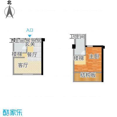 悦泰街里项目悦泰街里项目户型图8#公寓50.4平L户型图户型10室