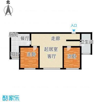 金广东海岸101.00㎡金广东海岸2室户型2室