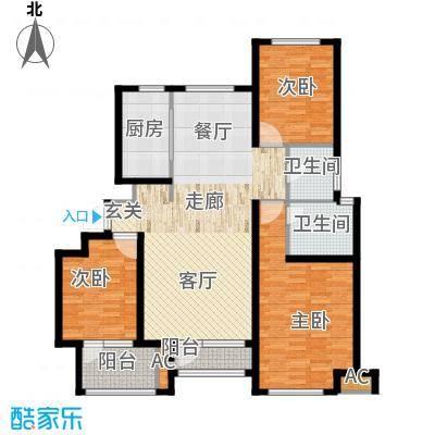 荣盛馨河郦舍123.40㎡荣盛馨河郦舍户型图E2户型3室2厅2卫1厨户型3室2厅2卫1厨